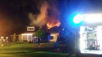 Woning in Hengevelde volledig uitgebrand na blikseminslag
