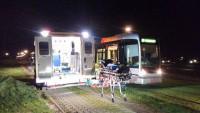 Voetganger zwaar gewond na aanrijding door tram in Rotterdam + HIGHRES VIDEO