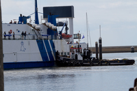 Motorstoring veerboot zorgt voor lange wachtrijen Harlingen + VIDEO