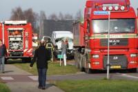 Zwaargewonde bij ernstige aanrijding met vrachtwagen in Haaksbergen + HIGHRES FOTO EN VIDEO
