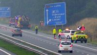Automobilist(e) belandt in berm op A1 bij Oldenzaal + VIDEO