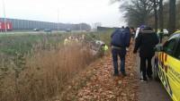 Gewonde bij ongeval auto te water in Dongen