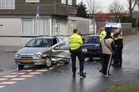 Gewonden bij aanrijding Keenstraat/Industriestraat in Rotterdam