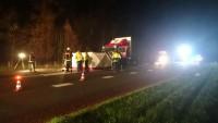 Vier doden bij zeer ernstige aanrijding met vrachtwagen op de N381 bij Meppen + HIGHRES FOTO + VIDEO