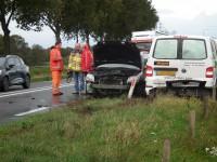 Kettingbotsing door defecte rem vrachtwagen